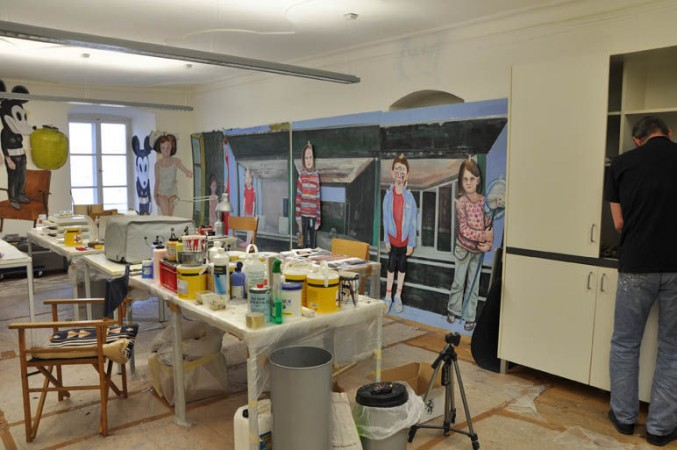 Peter Laher im Atelierhaus Salzamt
