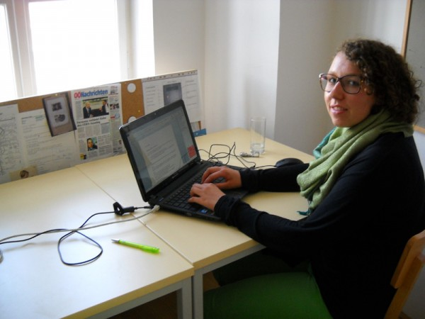 Kathrin bei der Arbeit