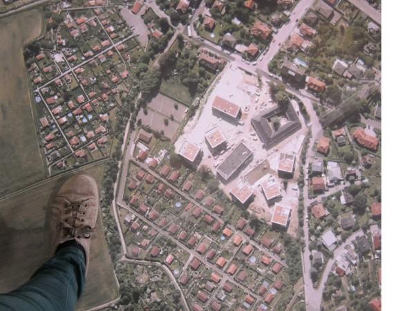 Mein Fuß sieht hier fast groß aus.