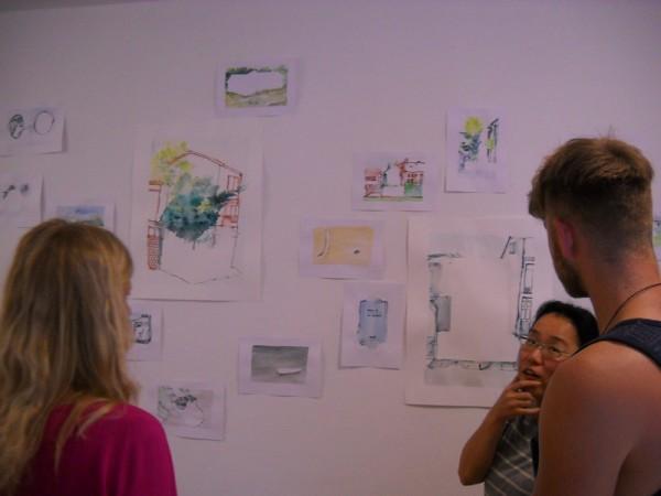 Watching Satomi's drawings